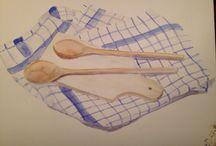 Eigen werk / Zelfgemaakte tekeningen en schilderijen