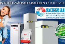 Wärmepumpen / Eine Wärmepumpe ist eine Maschine, die unter Aufwendung von technischer Arbeit thermische Energie aus einem Reservoir mit niedrigerer Temperatur (in der Regel ist das die Umgebung) aufnimmt und – zusammen mit der Antriebsenergie – als Nutzwärme auf ein zu beheizendes System mit höherer Temperatur (Raumheizung) überträgt.