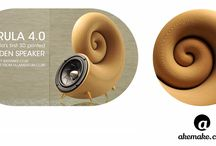 the World's First 3D Printed Speaker From Wood – Design is FREE to download / Akemake is pleased to announce to the friends, supporters, followers and enthusiasts of 3D printing technology the release of the new Spirula speakers. This 3D printed model is the first speaker in the world printed from Timberfill material made by Fillamentum. Yes, it is 100% wood! Feel free to visit our website to check out more model details, guidelines and specifications. We hope you will download it, print it, assemble it and enjoy the sound of this unique speaker.