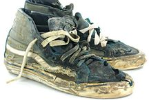 sneakers cemetery / where our love made its last step.