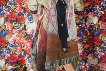 Courtesan / Kleurrijk en decoratief. Easy to sell Japanse kimono. Sprekend beeld Losvallend silhouet Geknoopte tops Ruime pyama broeken Ty-die effecten