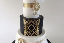 Great gatsby/art deco cakes