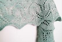 Knit Shawls: floral lace