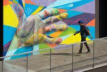 (Fragmento) Mural realizado junto a : Dric - Teo y Defos  en la ( FECH U. de Chile ) 2014