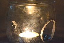 CLEAR GLASS AROMA OIL BURNER