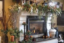 Christmas decor for home / Mantle