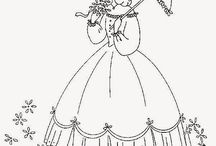 Bonnet/Crinoline Ladies
