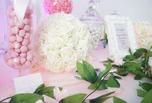 Candy bar mariage by Sweet candy Shower / Candy bar roùmantique rose vert et ivoire