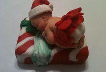 Christmas Baby Girl Fondant Topper 5