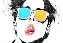 UN POP ART / POP ART / ART /한국화 +동양화 +한지 융합하여 작업을합니다.