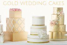 Gold Wedding Cakes / Gold wedding cakes on Cakes Inc. http://cakes-inc.com/metallic-gold-wedding-cakes/