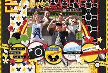 Disney Scrapbook Layout / To my Disney's special  scrapbook album