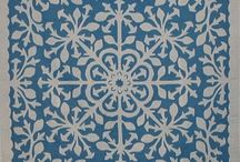 Quilting I ~ Applique / Quilting: applique and cathedral windows