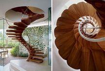 ahşap merdiven dekorasyonu