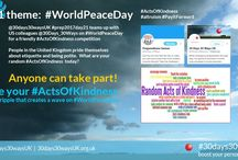 #WorldPeaceDay | #Kindness #CommunityResilience / Acts of Kindness contribute to #WorldPeace and build #preparedCommunities. Check out these inspiring resources. Find out more about #30days30waysUK by visiting the website at http://30days30waysUK.org.UK