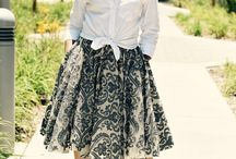 Vintage love with double circle skirt!