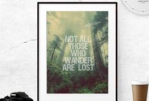 Wanderlust decor / Bring the adventurer in you back home. Travel inspired decor for wanderers