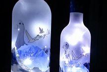 Flaschen Deko