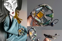 Artworks by Katerina Ko / Avant-garde exclusive accessories made of metal and different stuff designed with graphics, photos and paintings.