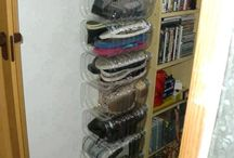 Storage ideas using recycled bottles
