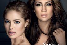 Doutzen Kroes and Jennifer Lopez for Vogue Turkey March 2014