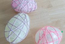 Easter egg string ballons