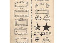 vintage scrapbooking, printing ideas / by Beverley Gillanders