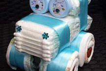 Торты из памперсов на рождение малыша