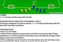 Soccer Practice / Sample of works on the pitch