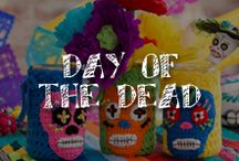 """Moore: Day of the Dead / Dia de los Muertos is a Mexican festival holiday remembering and celebrating those who have died. The iconic decorations include sugar skulls called calaveras, marigolds (known as flor de muertos, or the """"flower of the dead"""") and altars (ofrendas) where visitors can leave foods and drinks for their loved ones. / by A.C. Moore Arts & Crafts"""