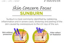 Skin Concern Focus- Sunburn / During summer months we all love to enjoy the sun, but we have to protect yourself against the UV rays of the sun. Here is how...