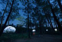 Une nuit à la belle étoile en bulle ! / Passez un séjour de camping #insolite dans nos tentes suspendues en pleine #nature ! Un séjour magique en bulle pour de merveilleux souvenirs en amoureux ou en famille. #Dihan