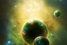 El espacio y universo.