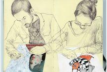 Zeichnungen / drawings / Eigene und gesammelte Zeichnungen