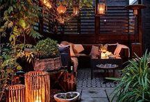 terrazas, patios y balcones