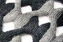 Puntos varios de crochet y tricot.