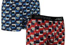 Leuk gekleurde boxershorts van J&C Underwear voor heren. / J en C Underwear maakt katoenen boxershorts met kleurige prints voor een prima prijs. Een 2-pack kost 8.95 bij https://www.domak.nl