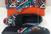 Ankara Clutch bags and Shoes