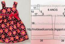 moldes costura vestidos niñas
