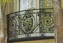 """IRONWORK and BALCONIES / This board is my treasure house of  """"Iron Art"""""""
