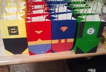 Justice League / Justice League themed birthday party ideas and cakes.