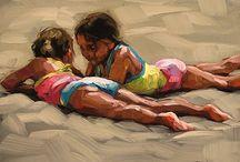 2 jenter on the beach