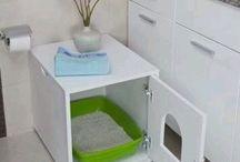 caja para guardar arenero de gatos
