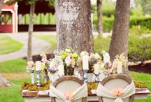 vintage wedding them / simply outdoor decor