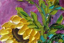 Słoneczniki - malarstwo