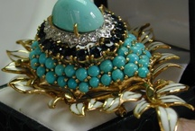Turquoise Jewels / Turquoise precious jewelry set in gold and platinum