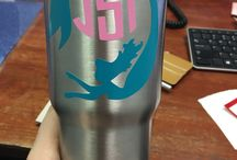 JSI PerfecCut Yeti Cups / Yeti like cups decorated with JSI's house brand sign vinyl.