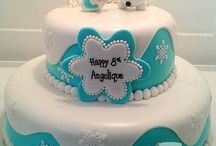 bolos com pasta de açúcar