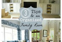 Organization . Living Room - Family Room