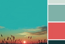 Red-Green / My favourite colours that in combination dance for me, colour being my music. Pops of colour opposites are esp vibrant. So teal with rust, think kelp and sea; peach with eau de nil; red berries or poppies with greenery; orange with turquoise ...